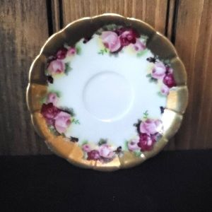 Vintage Occupied Japan Hand-Painted Flower Plate